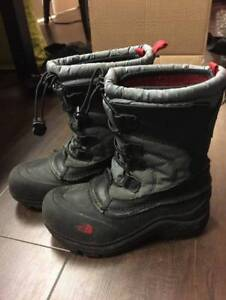 Kids North Face Snow Boots.  Size 1.