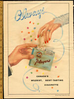 1954 full page color ad for Player's tobacco- wedding theme