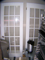 "French doors 30"" and Handles $ 50.00 ea. call 727-5344"