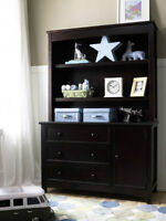 Convertible Dressing Table and Dresser with Hutch