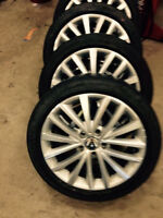 17 inch vw rims and Michelin tires