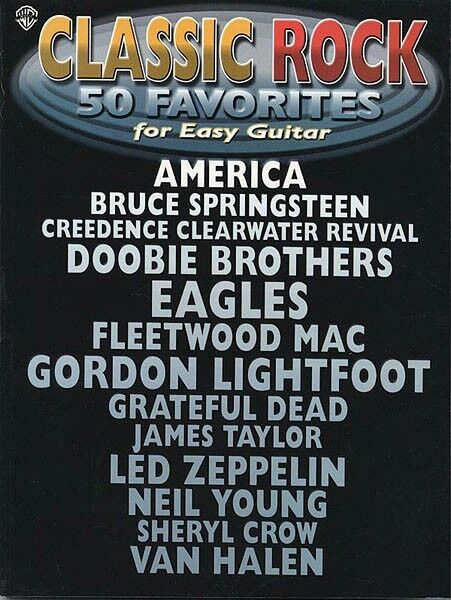 Classic Rock 50 Favorites for Easy Guitar Sheet Music Easy Guitar Book 000321444
