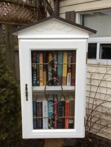 Little Free Library Victorian with Leaded Glass