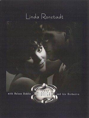 Linda Ronstadt Round Midnight Sheet Music Piano Vocal Guitar SongBook  000321764