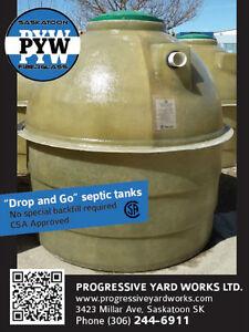 """Drop & Go"" Flat Bottom Fiberglass Septic tanks"