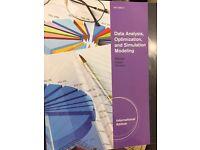 Data Analysis, Optimization, and Simulation Modeling