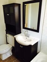 Vanité et meuble rangement pour salle d bain
