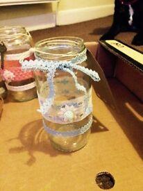 Individual handmade twilight holders / vases