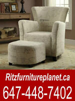 ACCENT CHAIR WITH OTTOMON