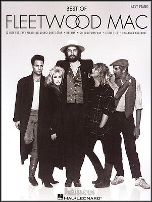 Best of Fleetwood Mac Easy Piano Sheet Music Book