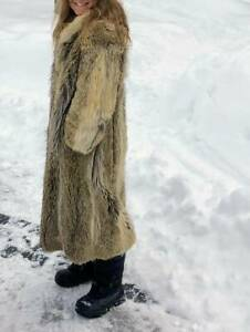 Coyote fur full length coat warm :) $10K new. Yours