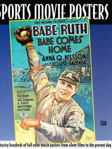 RARE SPORTS MOVIE POSTERS ART REFERENCE BOOK BABE RUTH FOOTBALL