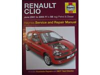 Wanted Renault Clio Haynes manual 2001-2005