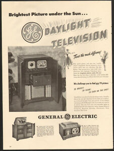 1948 original full-page, print ad - General Electric Television