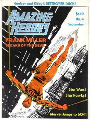 Amazing Heroes Magazine #4 Zam Publishing 1981 Miller Daredevil NEW UNREAD
