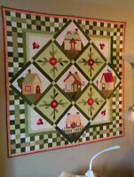Quilted Wall Hanging or Bed Cover
