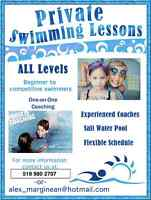 Offering Private Swimming Lessons