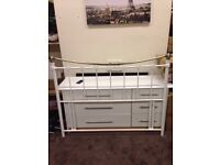 Nice White Metal Double Headboard Good Condition Can Deliver Locally for £5