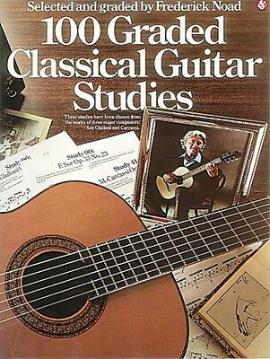 100 Graded Classical Guitar Studies Sheet Music Book NEW 014023154