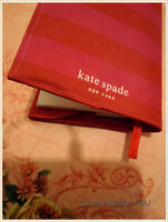 Kate Spade Red & Pink Striped Line Book Notebook Organizer Cover