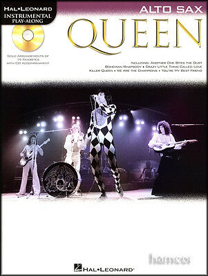 Queen Instrumental Play-Along Alto Sax Saxophone Sheet Music Book with CD