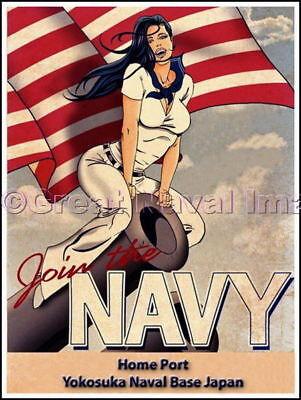 Join The Navy Homeport Yokosuka Japan Canvas Print