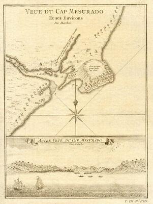 'Veue du Cap Mesurado…' Plan of Cape Mesurado, Monrovia, Liberia BELLIN 1747 map