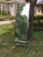 Standing Single Panel Floor Mirror with Casters -