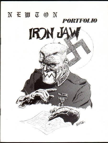 1970 comics fanzine DON NEWTON PORTFOLIO - Lovecraft, Green Hornet, Capt. Marvel