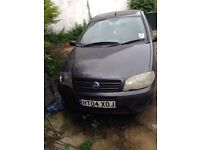 2004 Dark Grey 5 door Fiat Punto, has Damage to front driver side and Back Passenger Side.