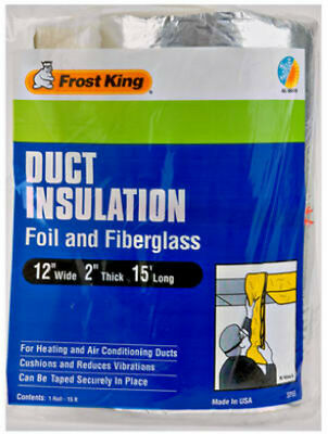 Frost King Sp55 Foil Fiberglass Duct Insulation 12 X 2 X 15