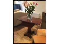 ANTIQUE VICTORIAN MAHOGANY DROP FLAP WORK TABLE DATING TO AROUND 1860/1870