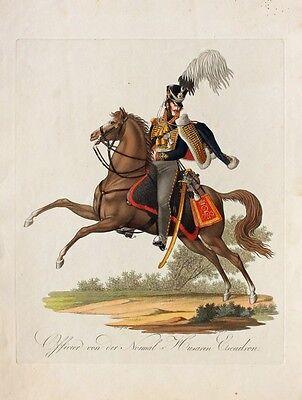 Friedrich Jügel Husar Offizier Uniform Preußen Befreiungskriege Attila Säbel