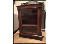 BEAUTIFUL ANTIQUE VICTORIAN INLAID GLAZED PIER DISPLAY CABINET