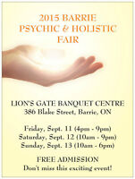 DON'T MISS THE 2015 BARRIE PSYCHIC & HOLISTIC FAIR