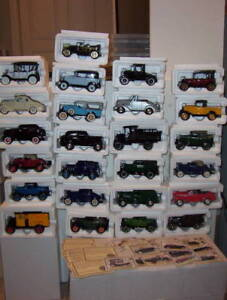 Collection complète History of Chevrolet 25 autos Diecast 1:32