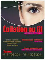 Épilation au fil /Threading hair removal