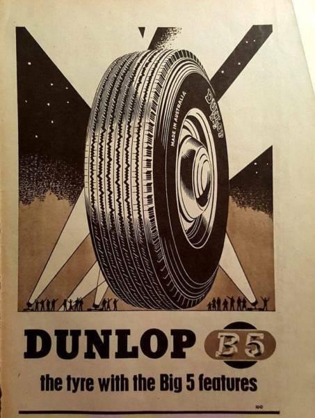 1954 Original Magazine Advert - Dunlop Tyres Big 5