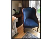 CHARMING EDWARDIAN ANTIQUE WING BACK MAHOGANY ARMCHAIR
