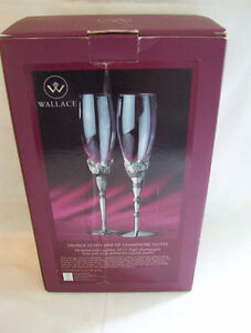 New, 2 sets of champagne flutes by Wallace $20.00 each. Cornwall Ontario image 1