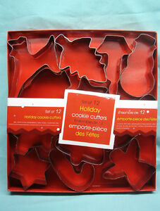 SET OF 12 HOLIDAY COOKIE CUTTERS