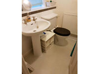 White toilet and basin. Good condition