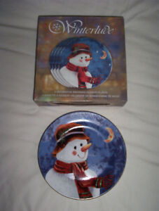 New, Winterlude snowman plates Cornwall Ontario image 2