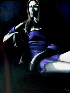 Girl in the Dark, original oil on canvas 30x24 West Island Greater Montréal image 1