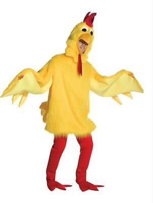ADULT FUZZY CHICKEN BIRD FUNNY FARM MASCOT COSTUME DRESS NEW GC6508