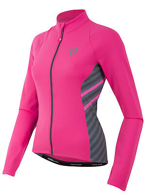 Pearl Izumi Women s Select Pursuit Thermal Bike Jersey Pink Stripe 2XL 38c5d9520