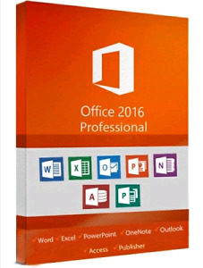 MICROSOFT OFFICE PROFESSIONAL 2016 for WINDOWS (FOR 1 PC ONLY)