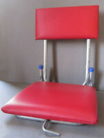 Vintage Red Plastic Folding Fishing Chair