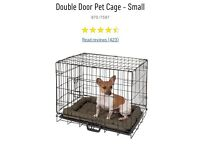 Dog Cage with 2 Different Mats