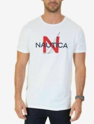 Nautica Men's Heritage Graphic-Print T-Shirt White Size XL
